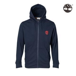 【Timberland】男款深寶石藍刺繡LOGO連帽外套(A256V433)/