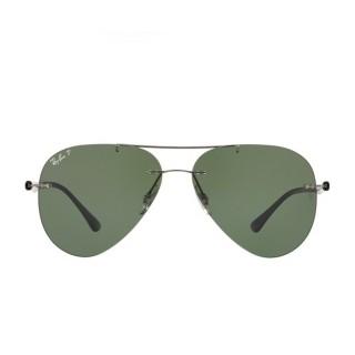 【RayBan 雷朋】超細框雙樑綠色鏡片(8058-0049A)