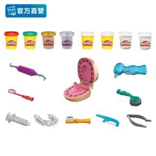 【PLAYDOH 培樂多】學習系列(鑲金小牙醫遊戲組 無毒 F1259)