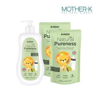 【MOTHER-K】蔬果/奶瓶 清洗液 1瓶+2袋(500ML/瓶)