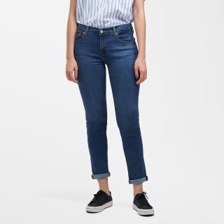【LEVIS】男友褲 中腰寬鬆版牛仔褲 / 天絲棉 / 精工藍染水洗 / 彈性布料-人氣新品