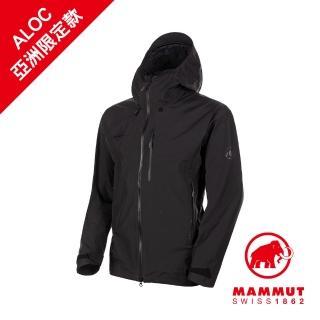 【Mammut 長毛象】Ayako Pro HS Hooded Jacket GTX 防水連帽外套 男款 黑色 #1010-27550(*網路限定款)