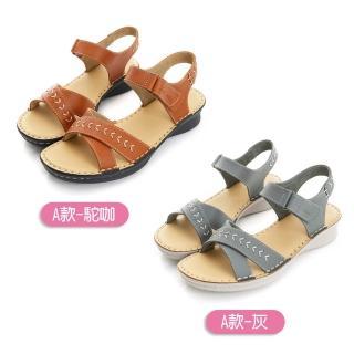 【LA NEW】輕量真皮氣墊涼鞋(女/7款)