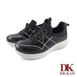 【DK 高博士】輕質牛皮空氣鞋89-0041-90黑色
