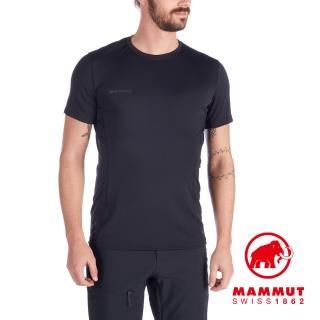 【Mammut 長毛象】Sertig T-Shirt Men 輕量透氣短袖排汗衣 男款 黑色 #1017-00110