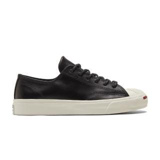 【CONVERSE】JACK PURCELL OX 低筒 開口笑 休閒鞋 男女 皮革 黑(170098C)