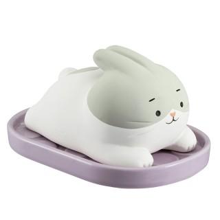 【DECOLE】日本免插電超萌除濕小幫手-白兔懶洋洋/