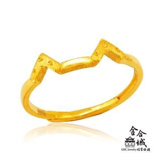 【金合城】純黃金貓咪造型戒指 2RSG004(金重約0.56錢)