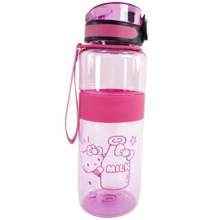 【小禮堂】Hello Kitty 透明隨身冷水瓶 運動水壺 塑膠水瓶 兒童水壺 800ml 《2款隨機》