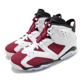 【NIKE 耐吉】籃球鞋 Air Jordan 6 Retro 男鞋 Carmine AJ6 喬丹 白 紅(CT8529-106)