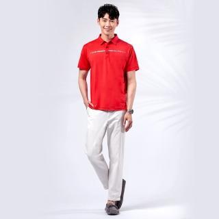 【JYI PIN 極品名店】自信品味彈性拼接棉料POLO衫_紅(PS839-18)