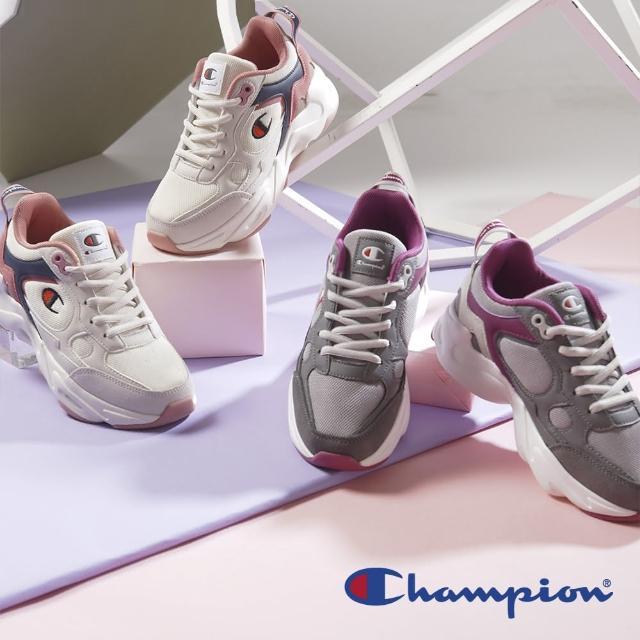 美國Champion撞色真皮無重力增高鞋-女/