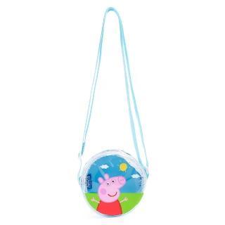 【Peppa Pig 粉紅豬】粉紅豬小妹 佩佩豬 童用迷你半透明側肩背包 藍(生活雜貨)