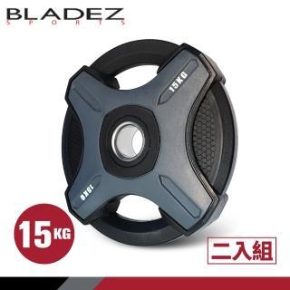 【BLADEZ】OP1-PU灰色奧林匹克包膠槓片-15KG(二入組)/