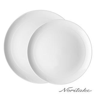 【NORITAKE】純白系列-詩羅恩圓盤2入組(27CM+24CM)