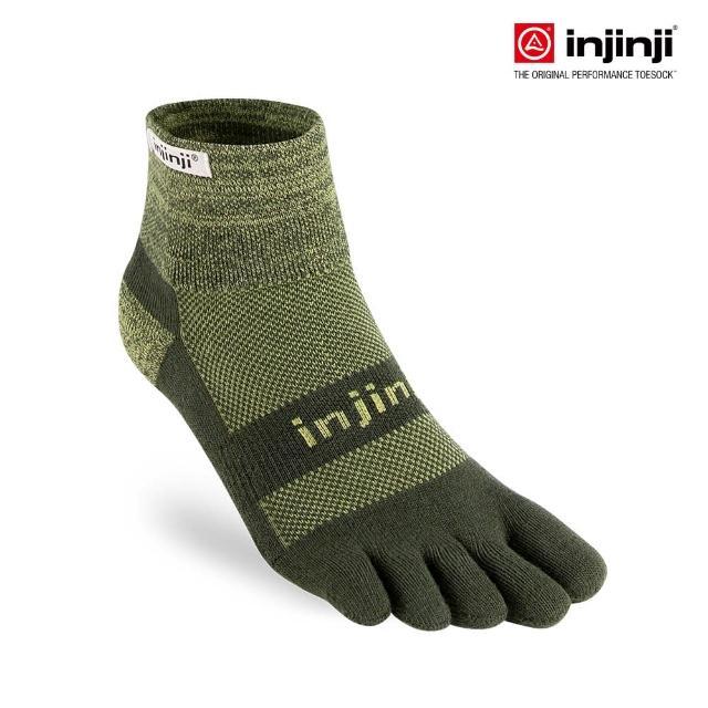 【Injinji】TRAIL野跑避震吸排五趾短襪[草綠](避震款