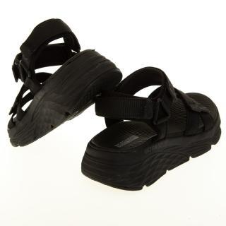 【SKECHERS】女 健走系列涼拖鞋 MAX CUSHIONING SANDAL(140218BBK)