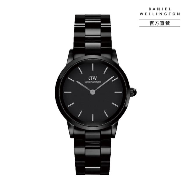 【Daniel Wellington】官方直營 Iconic Link Ceramic 32mm 曜石黑陶瓷錶(DW手錶 DW00100414)