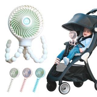 【JoyNa】嬰兒推車夾扇 寶寶睡眠USB風扇(手持.夾式.纏繞.低音.降噪)