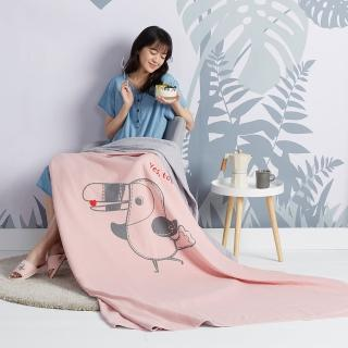 【Yvonne Collection】大嘴鳥雙人薄紗被_6x7呎(珊瑚粉)
