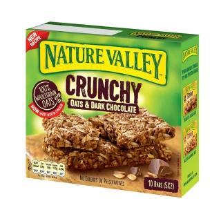 【Nature Valley 天然谷】即期品 天然谷 纖穀派 黑巧克力燕麥21gx2片x5條/盒(效期2021/7/5)