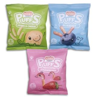 【大地之愛】皮皮奧斯新上市生機泡芙條-香草起司/草莓/藍莓10gx3包(非油炸點心  6個月以上嬰幼兒食用)