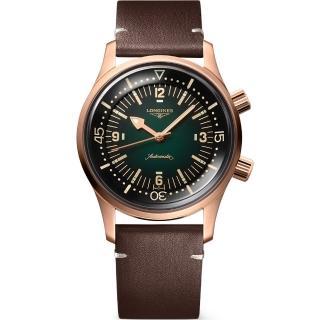 【LONGINES 浪琴】青銅 傳奇潛水復刻腕錶-42mm(L37741502)