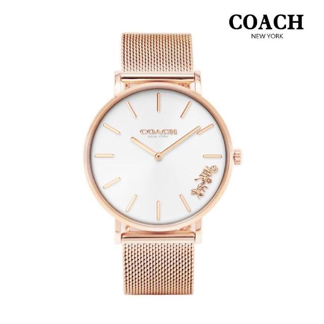 【COACH】優雅經典馬車米蘭女錶(共4款)
