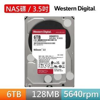 【WD 威騰】紅標 Plus 6TB NAS專用3.5吋SATA硬碟(WD60EFZX)
