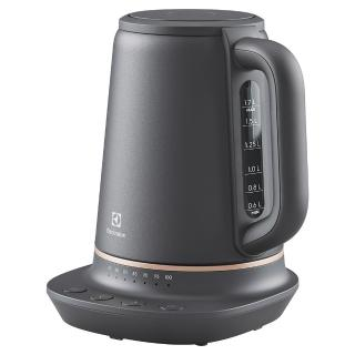 【Electrolux 伊萊克斯】伊萊克斯 瑞典美學1.7L不鏽鋼溫控電茶壺(E7EK1-60BP)