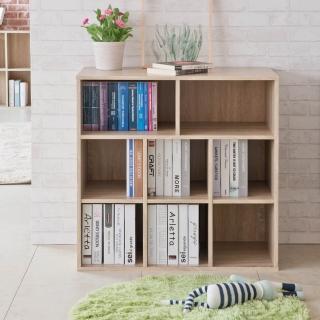 【TZUMii】浩克大容量八格書櫃+收納雙排書櫃(收納櫃 書櫃 置物櫃 隔間櫃)