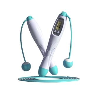 【kingkong】智能有氧電子計數跳繩 磁控感應 有繩+無繩兩用跳繩 負重手柄 休閒運動
