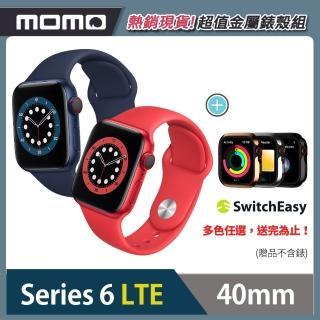 金屬錶殼組【Apple 蘋果】Apple Watch Series6(S6) LTE 40mm 鋁金屬錶殼搭配運動錶帶