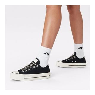 【CONVERSE】CTAS LIFT OX 低筒 厚底 百搭 豹紋 女 休閒鞋 黑色(570773C)