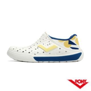 【PONY】ENJOY洞洞鞋 踩後跟 雨鞋 水鞋 中性款 幾何 5色