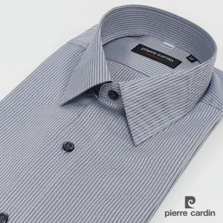 【pierre cardin 皮爾卡登】男裝 雙色吸排防皺短袖襯衫_灰色(61254-92)
