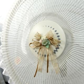【LASSLEY】蕾絲電風扇防塵套防護網(適用14吋 電扇 防護套 防護罩 網套 台灣製造)