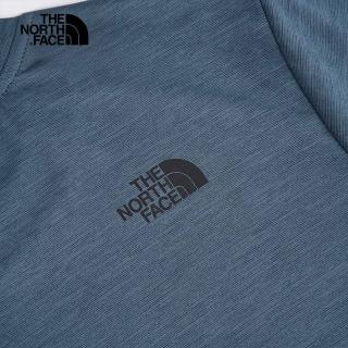 【The North Face】The North Face北面男款藍色吸濕排汗圓領短袖T恤|4NFKHKW