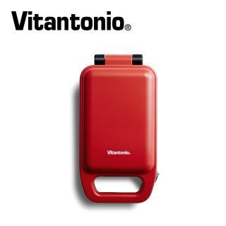 【Vitantonio】小V厚燒熱壓三明治機(番茄紅 VHS-10B-TM)+手持式攪拌棒五件組