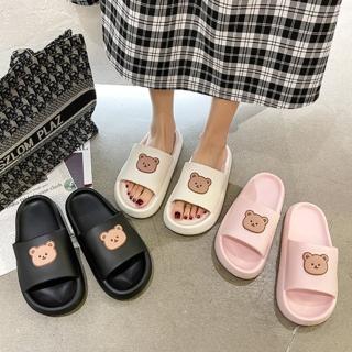 【LN】現+預 小熊居家外穿兩用軟底拖鞋(室內鞋/拖鞋/休閒鞋)