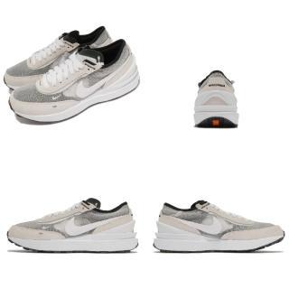 【NIKE 耐吉】休閒鞋 Waffle One 運動 女鞋 基本款 運動鞋 簡約 舒適 穿搭 麂皮 灰 白(DC0481-100)