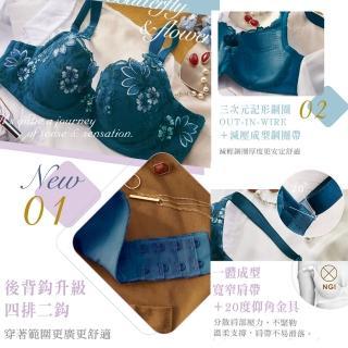 【Lavieaisee 金華歌爾】閨蜜 D90-95 罩杯內衣 寬肩帶減壓-絲蛋白素材-親膚透氣-記形鋼圈-IB4344(鴨綠藍)