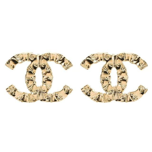 【CHANEL 香奈兒】經典雙C 金LOGO 鑲鑽/花邊鑲圓珠.圓鑽/簍空鑲黑鑽 耳環(多款多色選/耳針式)
