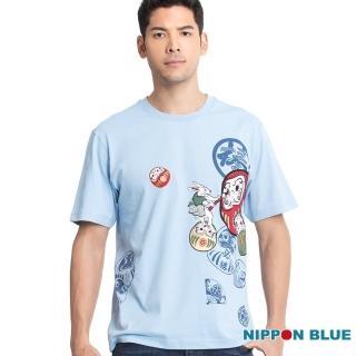 【BLUE WAY】棒系列畫睛達摩短TEE-日本藍