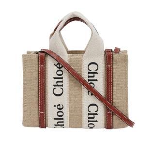 【Chloe' 蔻依】Woody 帆布手提包(多色選/中)