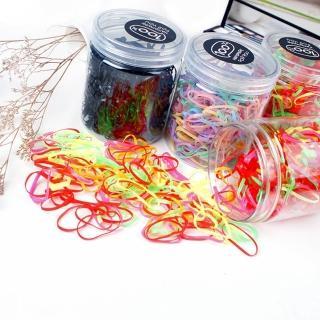 【Emi 艾迷】加價購-500入糖果色系橡皮筋髮圈