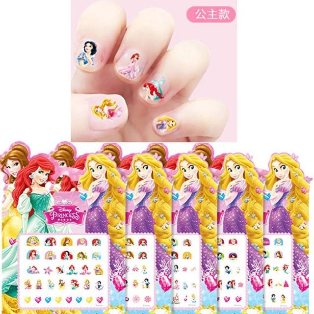 【TDL】迪士尼公主彩虹小馬冰雪奇緣兒童指甲貼紙美甲貼紙玩具組5入組 412652/412653(平輸品)