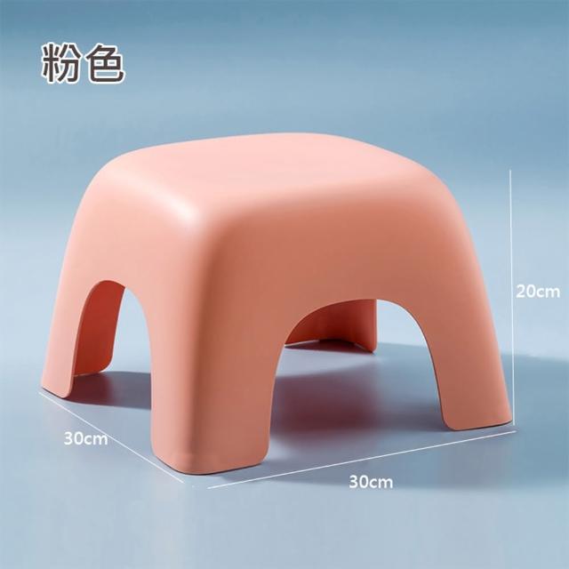 【HappyLife】四角幾何凳大號 Y10267(小凳子 椅凳 換鞋凳 浴室凳子 矮凳 矮椅子 小椅子)