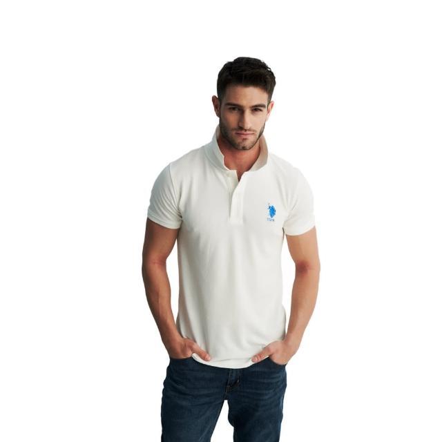 【U.S. POLO ASSN.】經典男中馬短袖POLO衫-多色任選(100%純棉、熱銷系列)