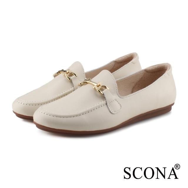 【SCONA 蘇格南】100%台灣製 熱銷舒適真皮娃娃鞋/通勤鞋(七款任選)